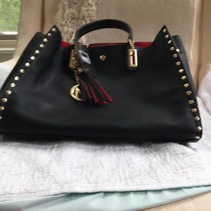 """Two pleather handbags.one is 14"""" width and 10"""" wid"""